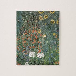 Quebra-cabeça Gustavo Klimt - flores dos girassóis do jardim do
