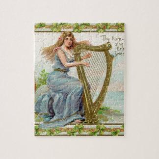 Quebra-cabeça Harpa & senhora originais do dia de patrick de