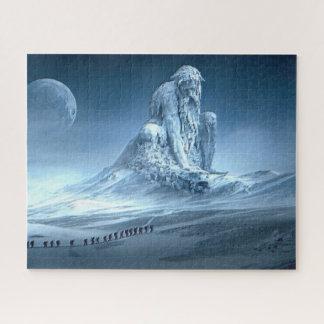 Quebra-cabeça Homem na escultura da fantasia da montanha