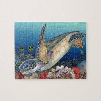 Quebra-cabeça Honu (tartaruga de mar verde)