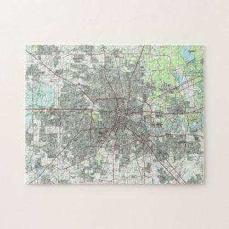 Quebra-cabeça Houston Texas Mapa (1992)