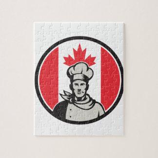 Quebra-cabeça Ícone canadense da bandeira de Canadá do padeiro