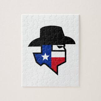Quebra-cabeça Ícone da bandeira de Texas do bandido