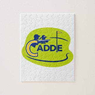 Quebra-cabeça Ícone do campo de golfe do Caddie e do jogador de