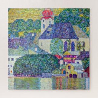 Quebra-cabeça Igreja do St. Wolfgang por Gustavo Klimt, arte do