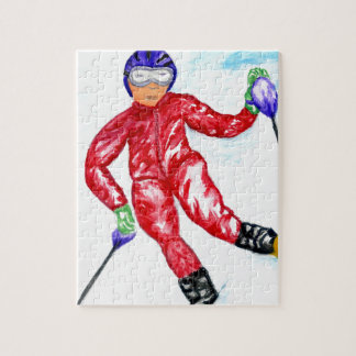 Quebra-cabeça Ilustração do esporte do esquiador