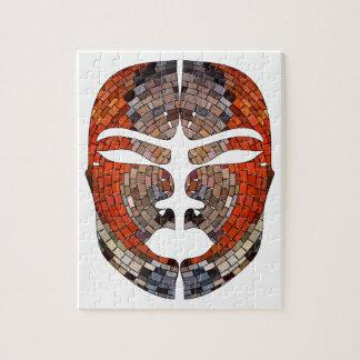 Quebra-cabeça Imitação do abstrato da máscara africana