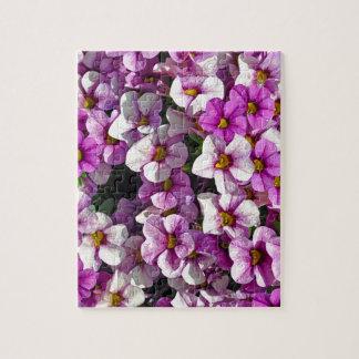 Quebra-cabeça Impressão floral bonito dos petúnias cor-de-rosa e