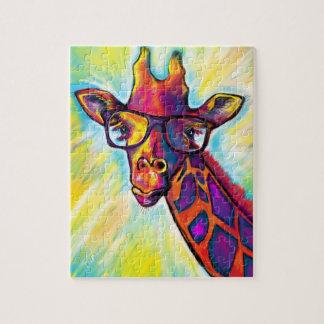 Quebra-cabeça impressionante super do girafa