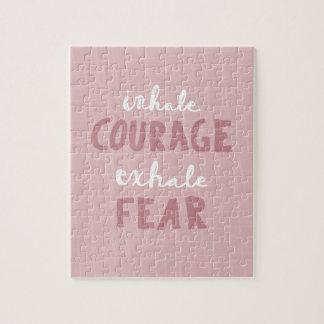Quebra-cabeça Inale a coragem expiram o medo