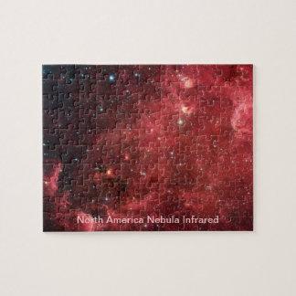 Quebra-cabeça Infravermelho da nebulosa de America do Norte