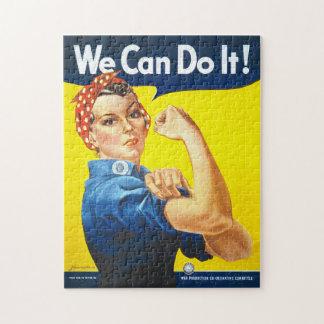 """Quebra-cabeça Inspirador: Rosie o rebitador, """"nós podemos"""