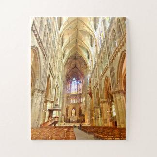 Quebra-cabeça Interior da catedral de Metz, France