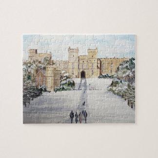 Quebra-cabeça Inverno na paisagem do castelo de Windsor
