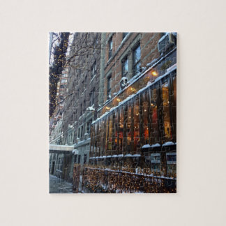 Quebra-cabeça Inverno superior NYC da Nova Iorque dos sincelos