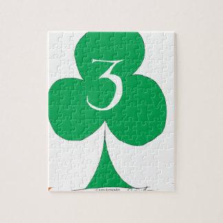 Quebra-cabeça Irlandês afortunado 3 dos clubes, fernandes tony