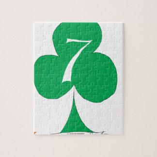 Quebra-cabeça Irlandês afortunado 7 dos clubes, fernandes tony