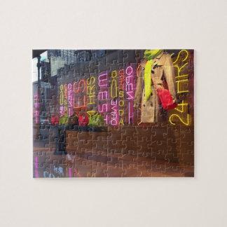 Quebra-cabeça Janela de armazém New York das luzes de néon NYC