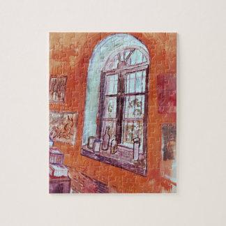 Quebra-cabeça Janela de Van Gogh do estúdio de Vincent no asilo