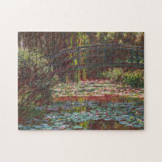 Quebra-cabeça ~ japonês Claude Monet dos lírios da ponte e de