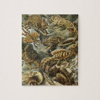 Quebra-cabeça Lacertilia por animais do lagarto do vintage de