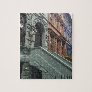 Quebra-cabeça Lado oeste superior NYC dos Brownstones da Nova