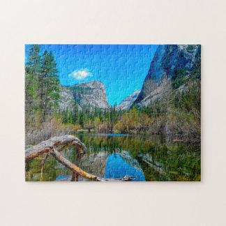 Quebra-cabeça Lago Yosemite Califórnia mirror