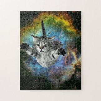 Quebra-cabeça Lançamento do gatinho do universo do gato da