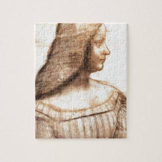 Quebra-cabeça Leonardo da Vinci - pintura de Isabella D'este