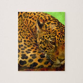 Quebra-cabeça Leopardo no registro de Brown