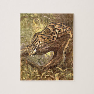 Quebra-cabeça Leopardo nublado pela cisne do CE, animais