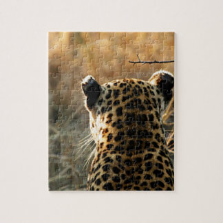 Quebra-cabeça Leopardo que olha fora na distância