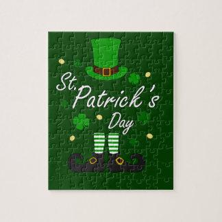 Quebra-cabeça Leprechaun de Patricks da rua