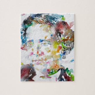 Quebra-cabeça LEWIS CARROLL - aguarela portrait.3