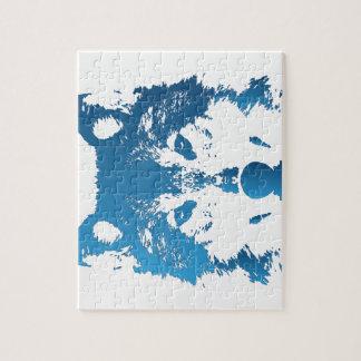 Quebra-cabeça Lobo do azul de gelo da ilustração