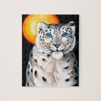 Quebra-cabeça Lua do leopardo de neve