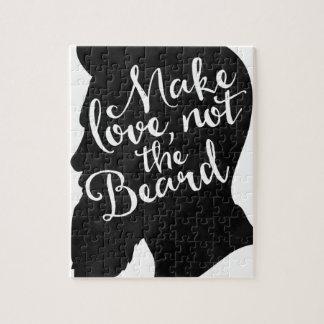 Quebra-cabeça Make love not the beard - silhueta