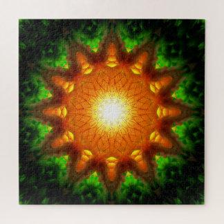 Quebra-cabeça Mandala alaranjada do núcleo | da energia
