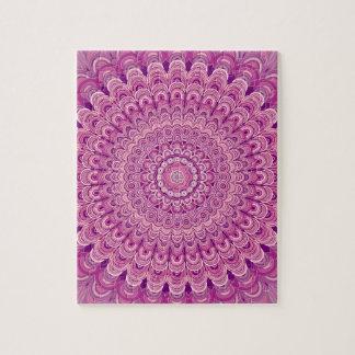 Quebra-cabeça Mandala cor-de-rosa da flor