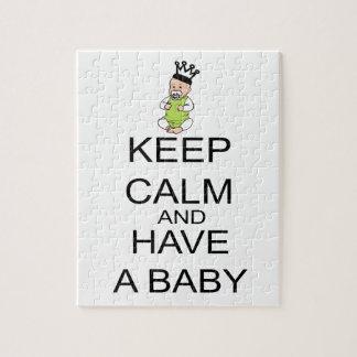 Quebra-cabeça Mantenha a calma e tenha um bebê
