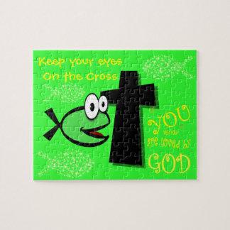 Quebra-cabeça Mantenha seus olhos na cruz