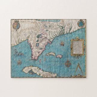 Quebra-cabeça Mapa antigo de Florida e de Cuba