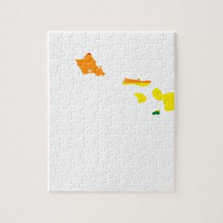 Quebra-cabeça Mapa da bandeira de Havaí LGBT
