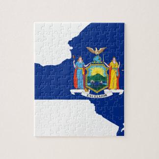 Quebra-cabeça Mapa da bandeira de New York