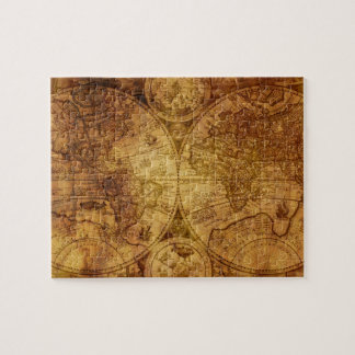 Quebra-cabeça Mapa do mundo antigo velho histórico