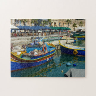 Quebra-cabeça Marsaxlokk pintou barcos