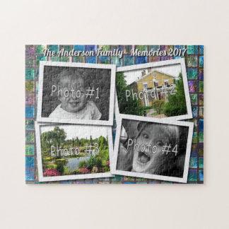 Quebra-cabeça Memórias da família 4 fotos feitas sob encomenda