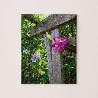 Quebra-cabeça místico da foto da flor 8x10 com