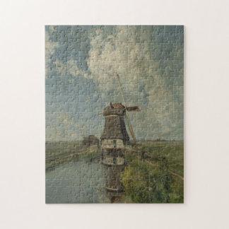 Quebra-cabeça Moinho de vento holandês na via navegável Paul