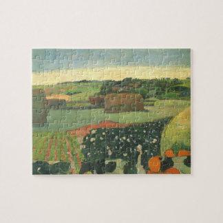 Quebra-cabeça Monte de feno em Brittany por Paul Gauguin, arte